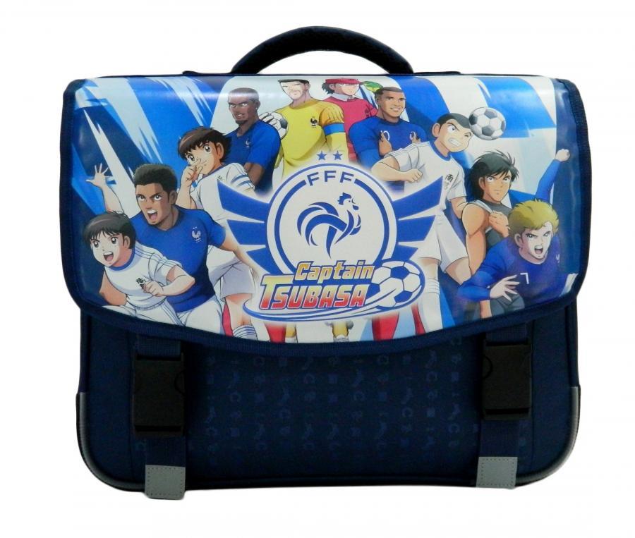 Cartable France Captain TSUBASA Bleu Junior