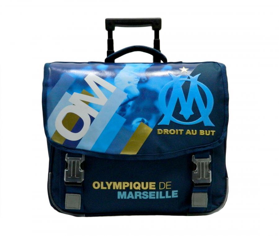 OM schoolbag with wheels Blue