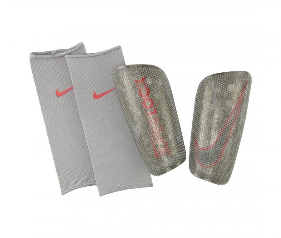 Protège-tibias Nike Mercurial Lite SuperLock Gris