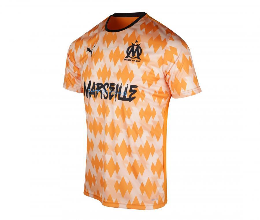 OM Showdown Influence Men's Football Shirt White/Orange