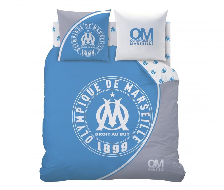 Duvet Cover Double bed + 2 Pillowcase OM Blue/White