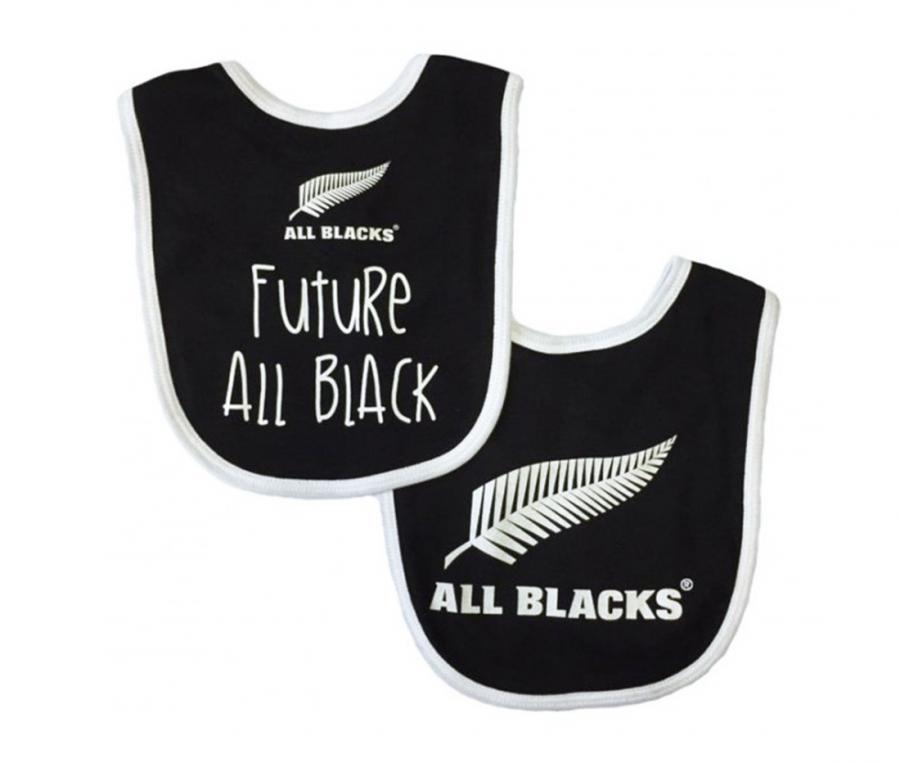 Lot de 2 bavoirs All Blacks noir