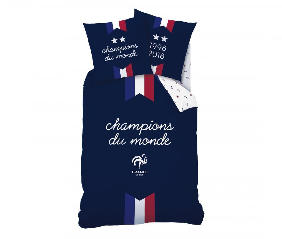 Housse de Couette France 1 Place 2 étoiles Bleu Junior