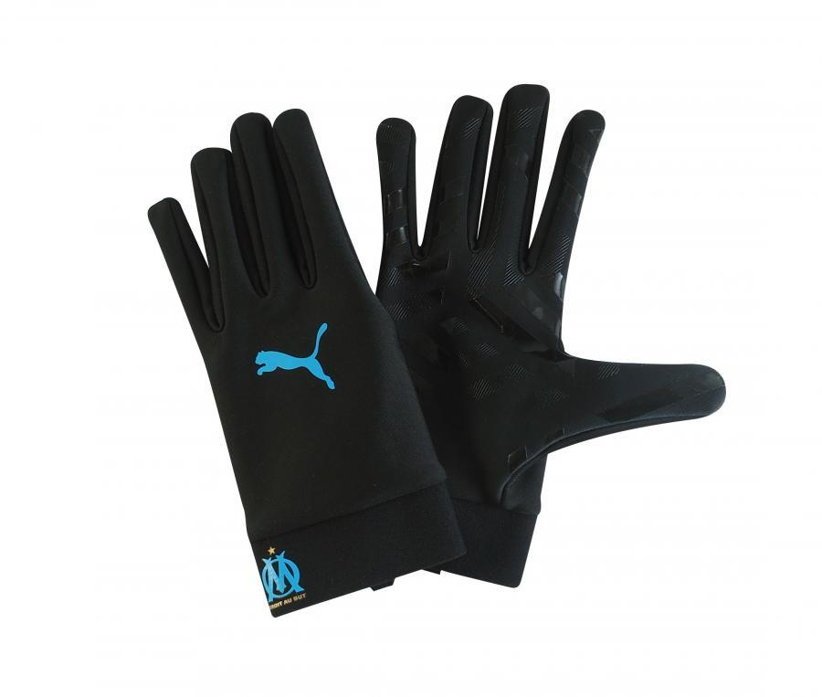 OM Field Football Gloves Black