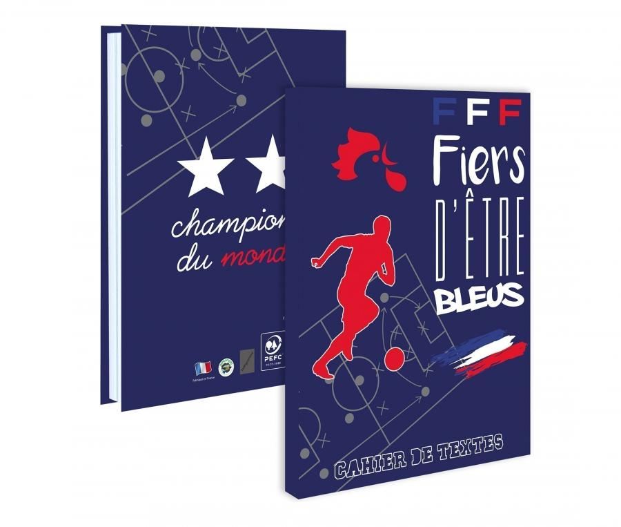 Cahier de Textes FFF Bleu Junior