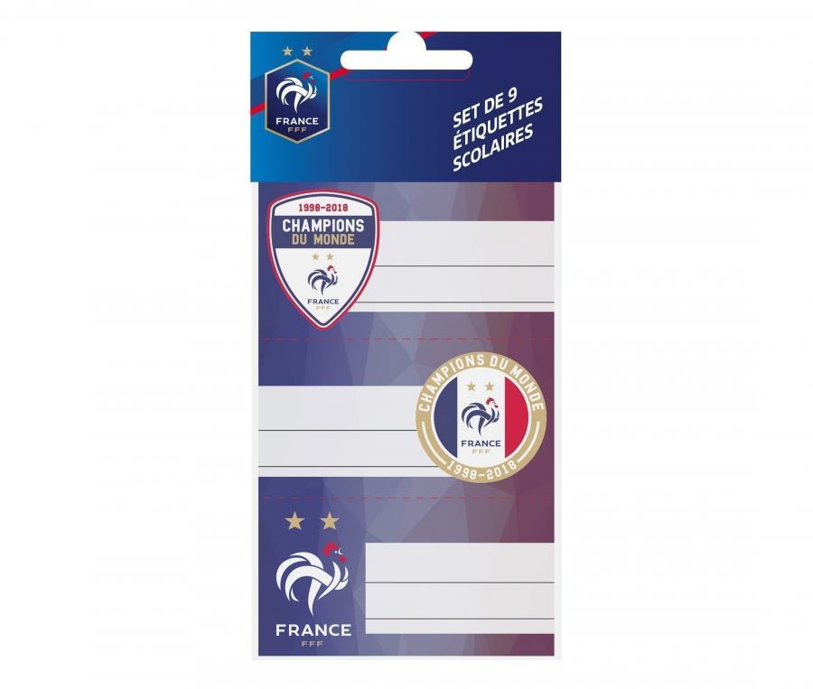 Etiquettes scolaires FFF Bleu Junior