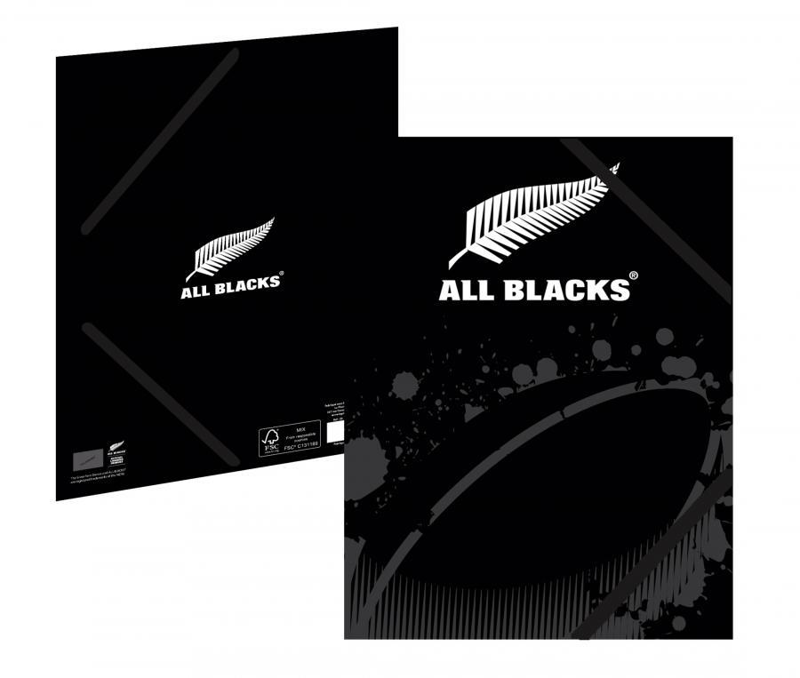 Chemise cartonnée A4 All Blacks 3 Rabats Blanc/Noir