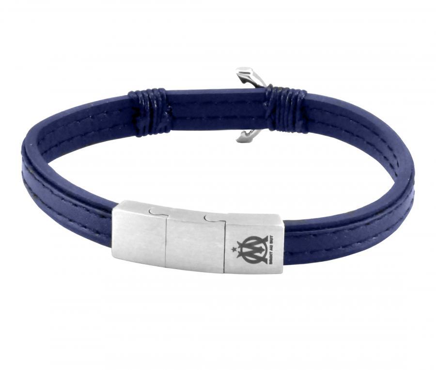 Bracelet OM Cuir Marine Bleu