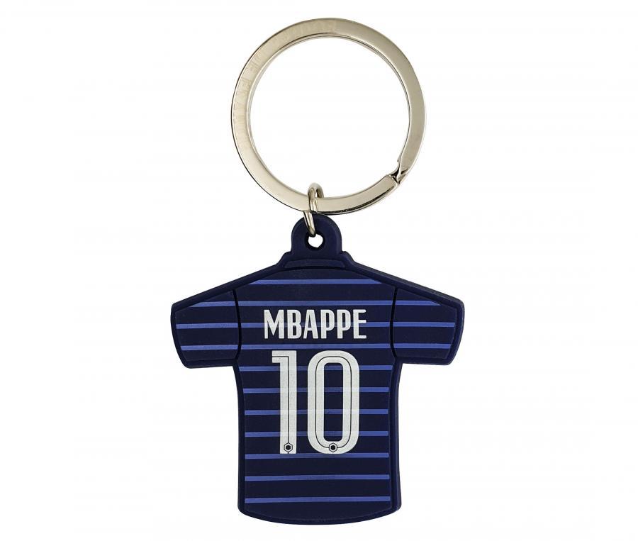Porte-clés FFF Maillot Domicile Mbappé Bi-Face Bleu
