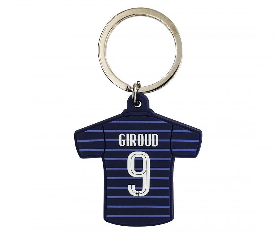 Porte-clés FFF Maillot Domicile Giroud Bi-Face Bleu