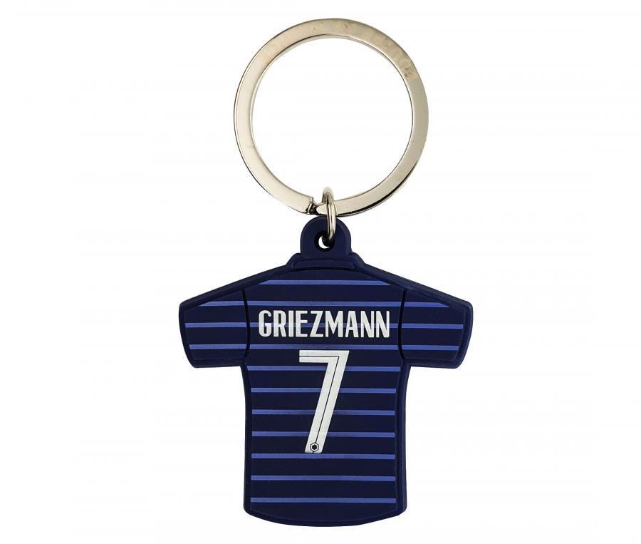 Porte-clés FFF Maillot Domicile Griezmann Bi-Face Bleu