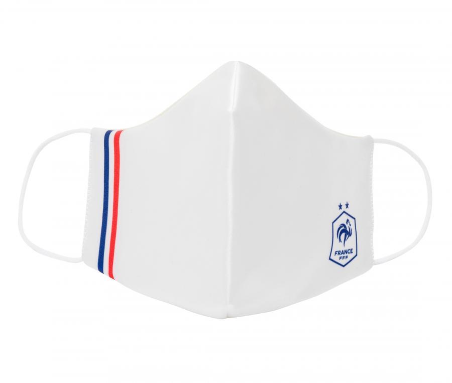 Lot de 2 Masques de protection France All Over Bleu/Blanc Junior