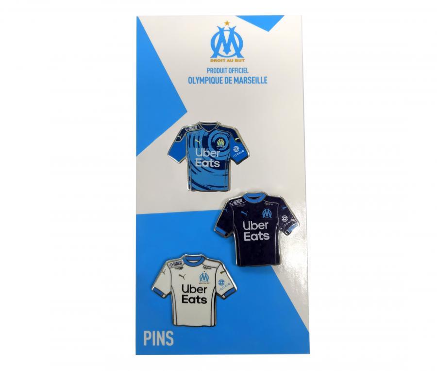 Set of 3 OM Home/Away/Third Football Shirt Pins