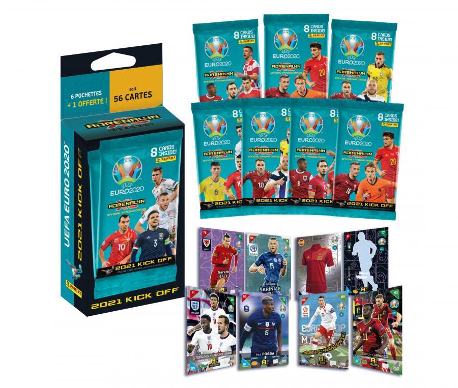 56 cartes Panini  UEFA Euro 2020 ADRENALYN XL 2021 Kick Off
