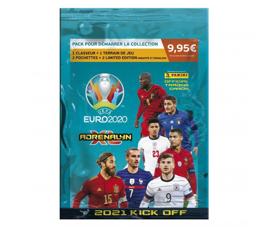 Pack de démarrage Panini UEFA Euro 2020 ADRENALYN XL 2021 Kick Off