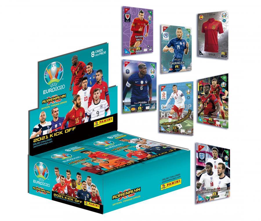 Boîte de 192 cartes Panini UEFA Euro 2020 ADRENALYN XL 2021 Kick Off