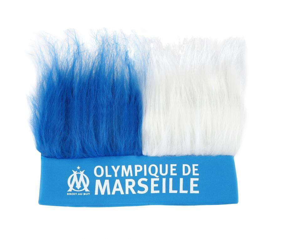Bandeau Perruque OM Bleu/Blanc