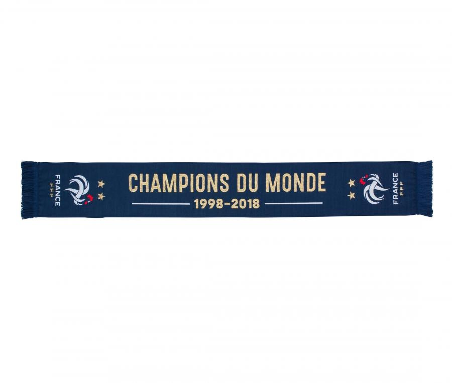 Echarpe Champions du Monde Bleu