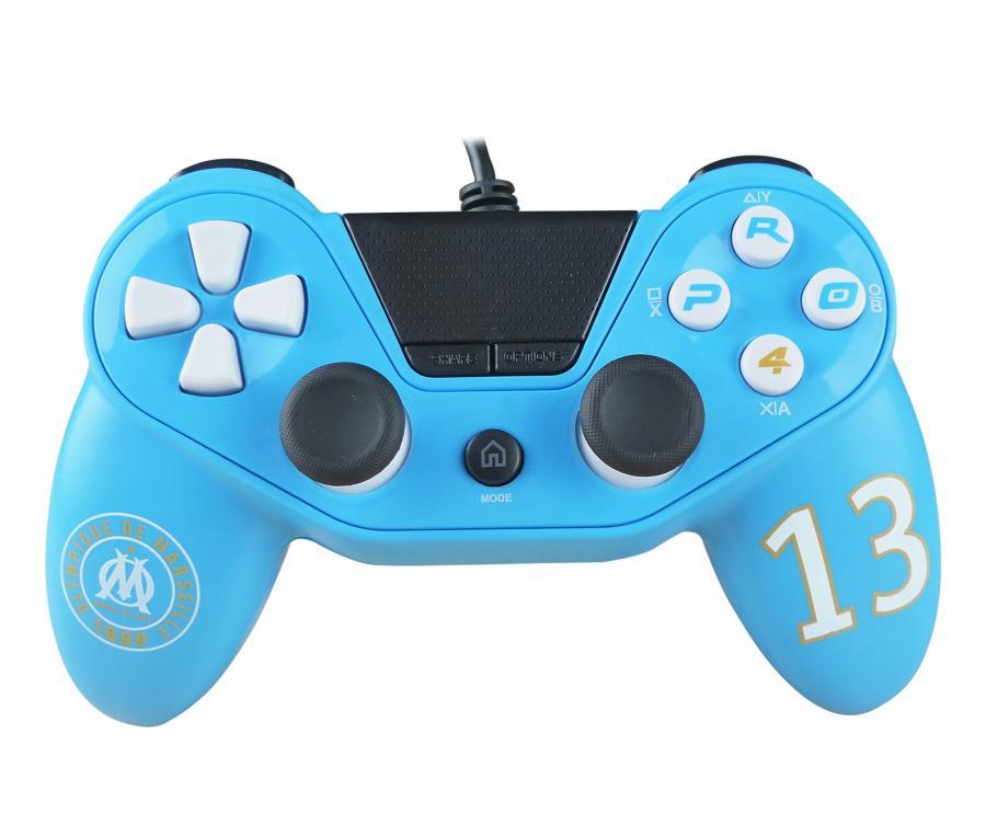 Palanca Pro4 OM para PS4/PS3/PC Azul
