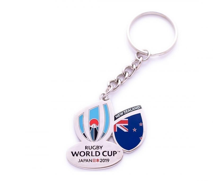 Porte-clés Nouvelle-Zélande RWC Japan 2019 blanc