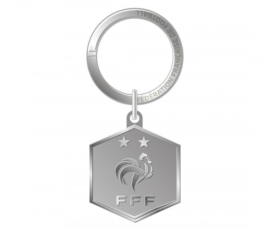 Porte-clés FFF Logo Argenté