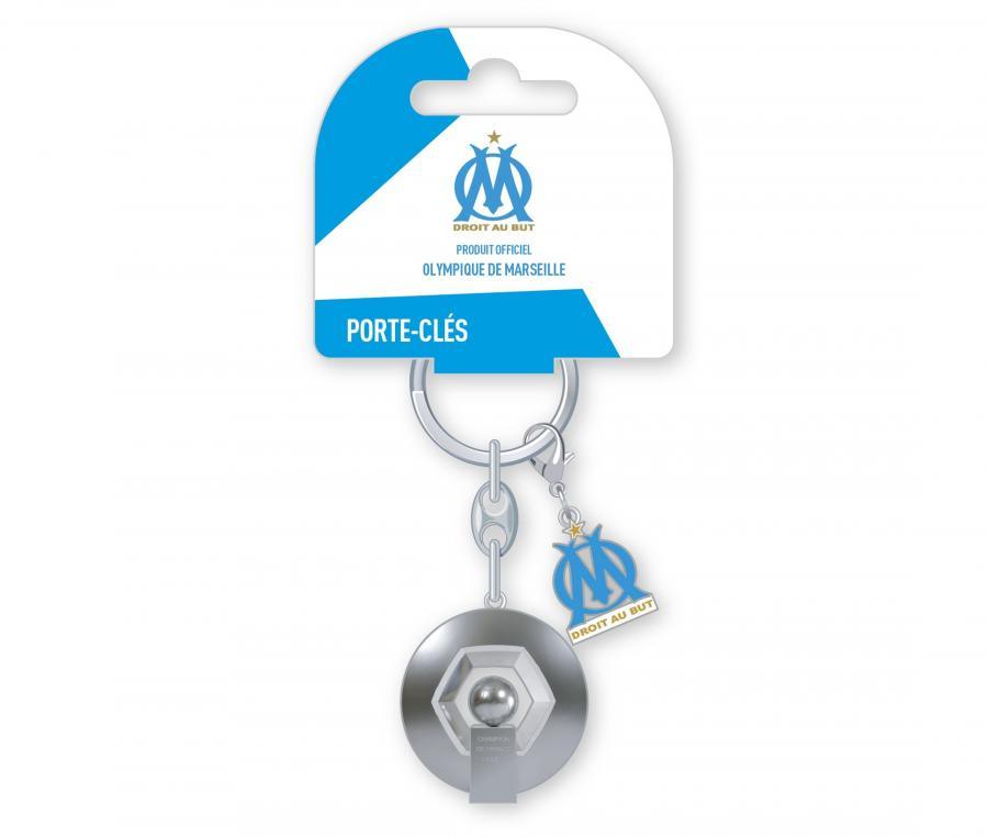 Porte-clés OM Trophée Ligue 1 2010 Argenté