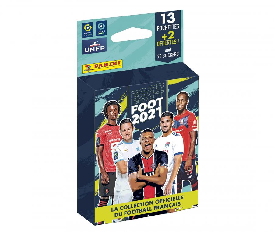 65 Stickers + 10 Stickers Offerts PANINI Foot 2021