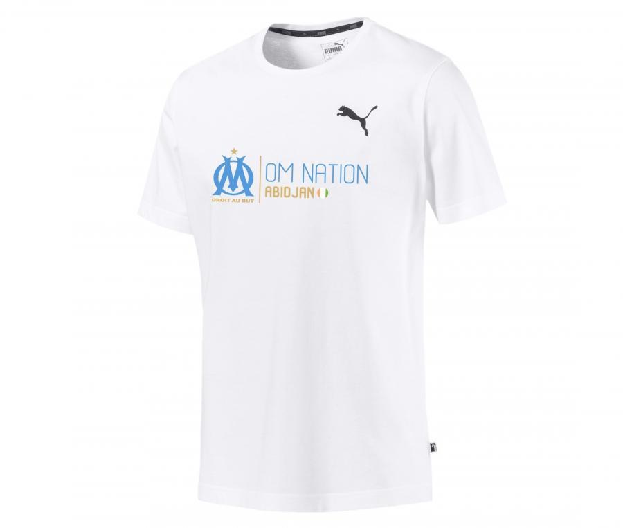 OM Puma Nation Abidjan Men's Tee-shirt White