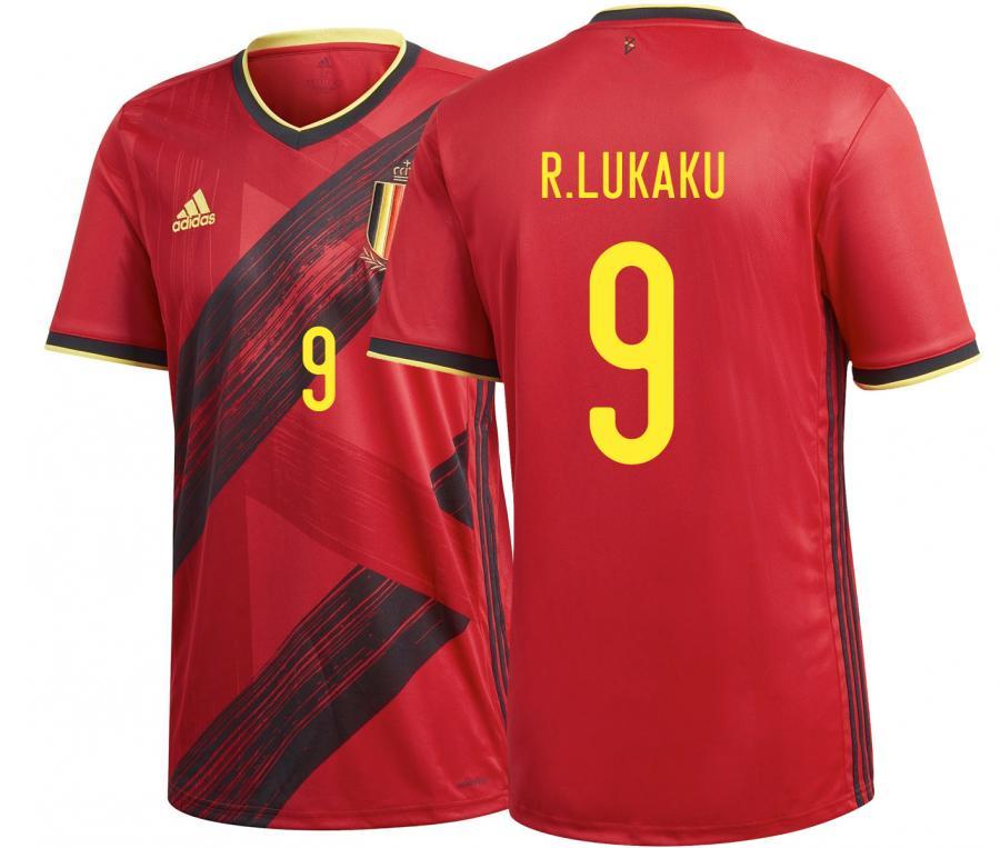 Maillot Belgique Domicile Lukaku Euro 2020
