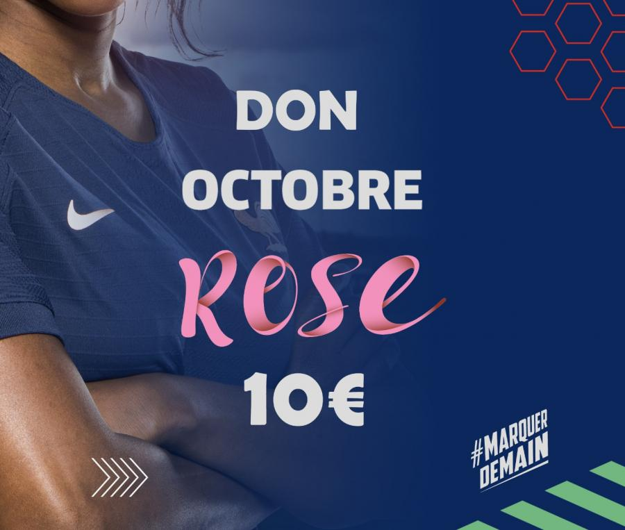 Don pour Octobre Rose 10€
