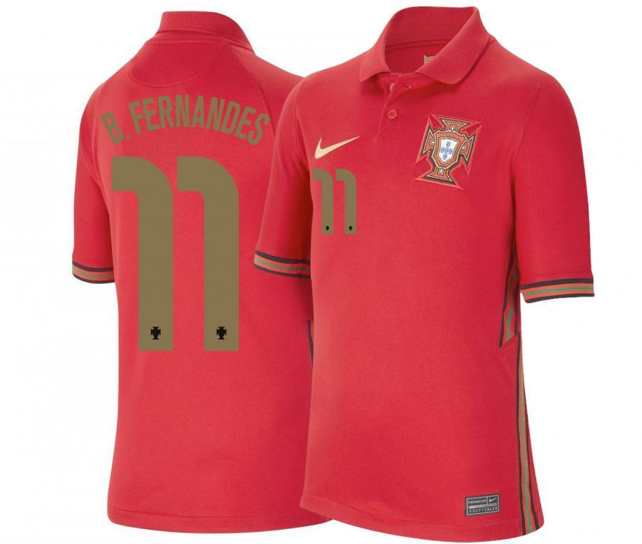 Maillot Match B.FERNANDES 10 Portugal Domicile EURO2020