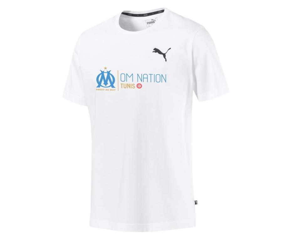 T-shirt OM Nation Tunis Blanc