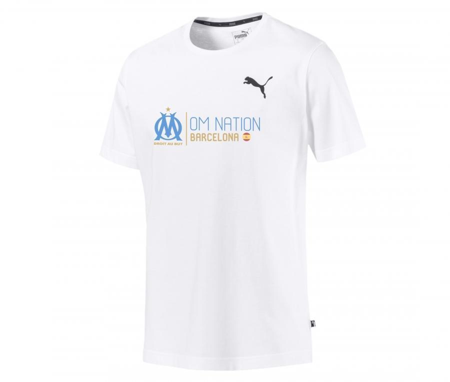 T-shirt OM Nation Barcelone Blanc