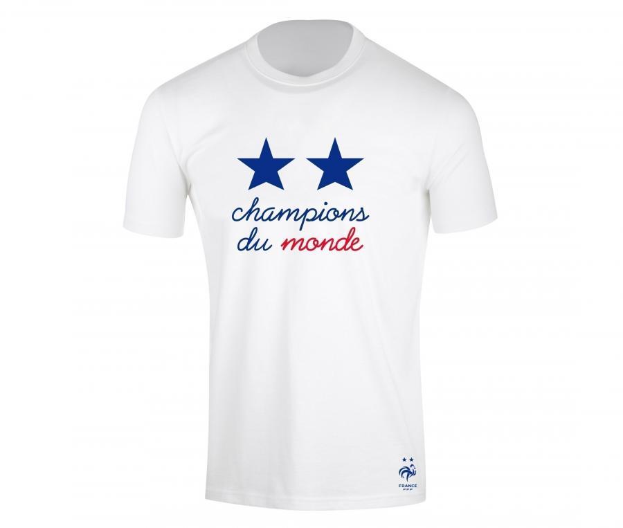 T-shirt France Champions du Monde Blanc